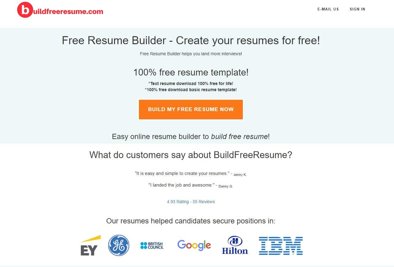 2019 Best Free Resume Builder Download Resume Build A