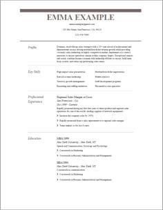 Resume Template | 2019 Resume Templates | Buildfreeresume.com