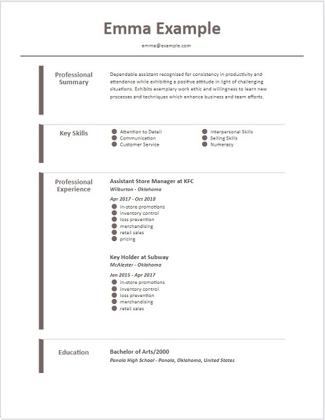 2019 Resume Templates | Download Best Free Basic Resume Template