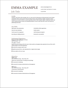 Resume Template | Resume Templates Free | Buildfreeresume.com