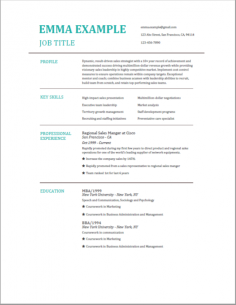 2019 Resume Templates | Free Resume Template Download